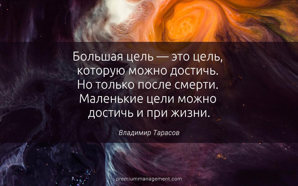 Большая цель, Владимир Тарасов, цель