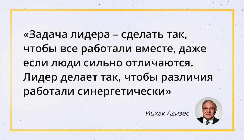 Ицхак Адизес, цитата, лидер, управление
